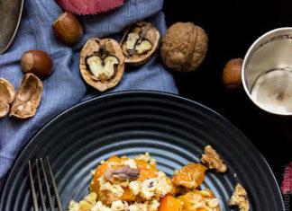 butternut rôtie et amandes grillées