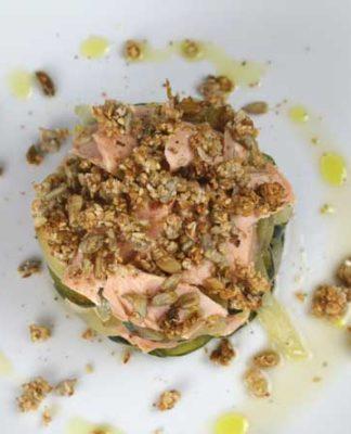 crumble parmesan saumon